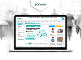 Front End web La Caixa